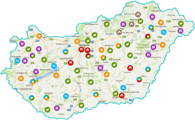 map of every thermal bath in hungary
